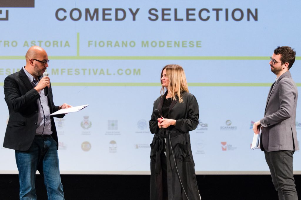 Scarabeo founder on the Ennesimo Film Festival stage