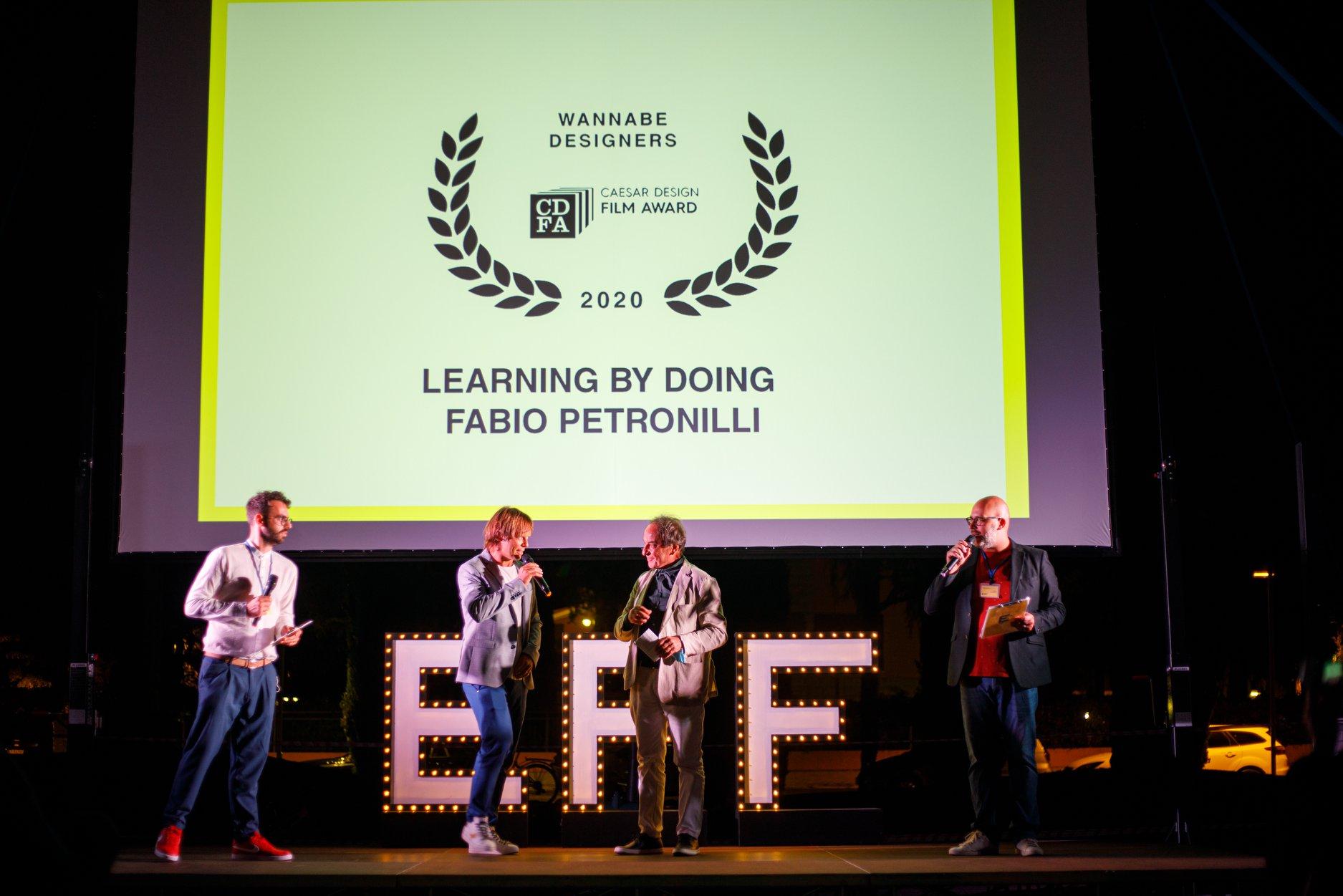 Architetto Guglielmo Renzi annuncia il vincitore CDFA 2020
